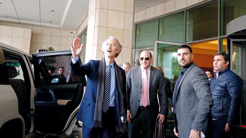 بيدرسون وصل أمس إلى دمشق في أول زيارة رسمية له منذ توليه منصبه. رويترز