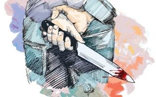 الصورة: رجل يقتل زوجته طعناً بالسكين في أبوظبي