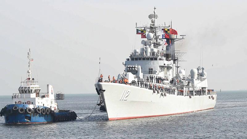 صناعة السفن الحربية الصينية تشهد تطوراً نوعياً.  أرشيفية