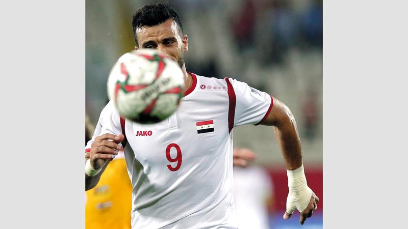 عمر السومة لم يقدم الإضافة المطلوبة لهجوم سورية في كأس آسيا.  أ.ب