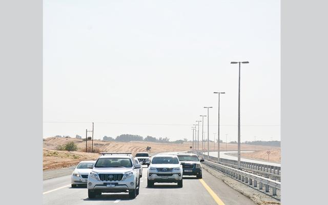 """الصورة: طرق الشارقة تنجز الطريق المؤدي إلى ضاحية الرحمانية من التقاطع""""5"""""""