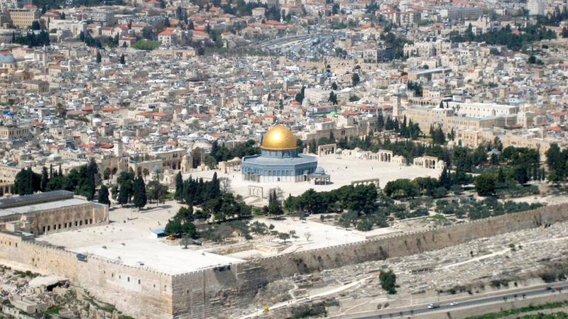 خطة السلام الأميركية ستتضمن دولة فلسطينية على 90% من أراضي الضفة عاصمتها القدس الشرقية دون الأماكن المقدسة.  أرشيفية