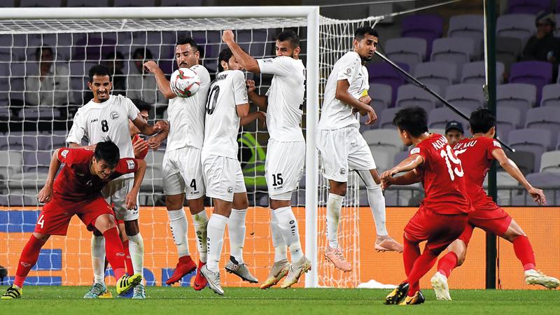 المنتخب اليمني شارك للمرة الأولى في بطولة كأس آسيا مستفيداً من رفع عدد المنتخبات في «الإمارات 2019». تصوير: إريك أرازاس
