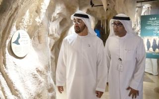 الصورة: محمد بن زايد يتفقّد مشروعات سياحية وإسكان للمواطنين في العين