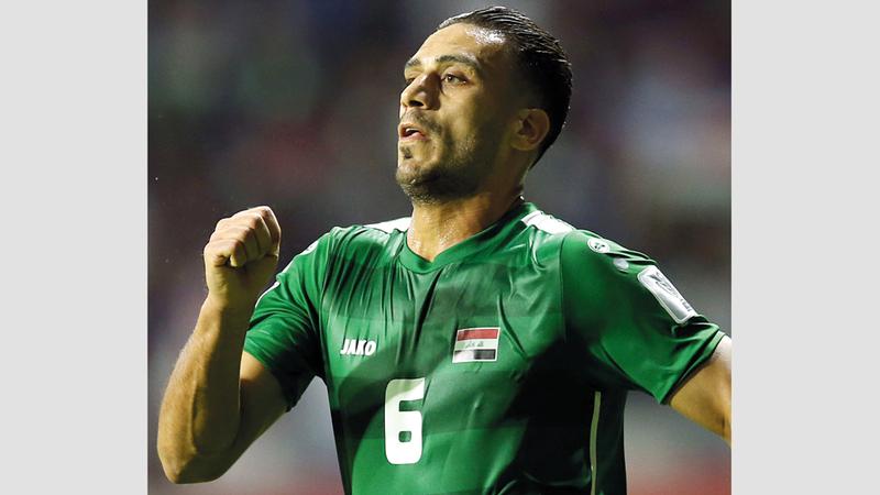 لاعب العراق علي عدنان.  إي.بي.إي