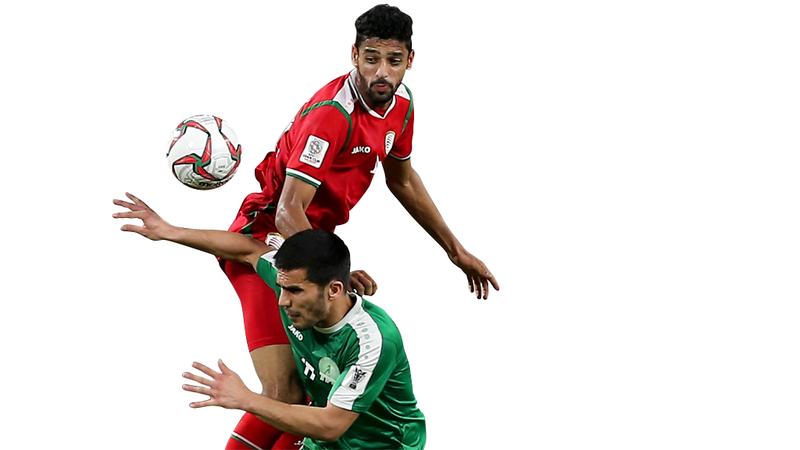 منتخب عمان آخر العرب المتأهلين لدور الـ 16.  تصوير: نجيب محمد