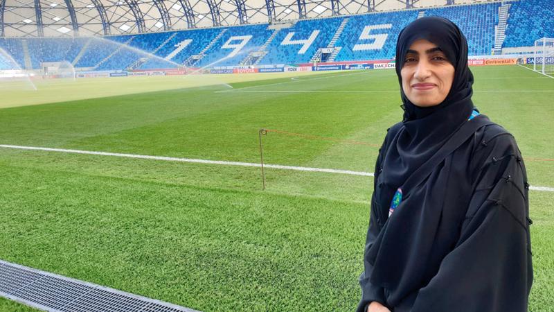 رئيسة اللجنة الطبية المحلية الدكتورة ريمة الحوسني. الإمارات اليوم