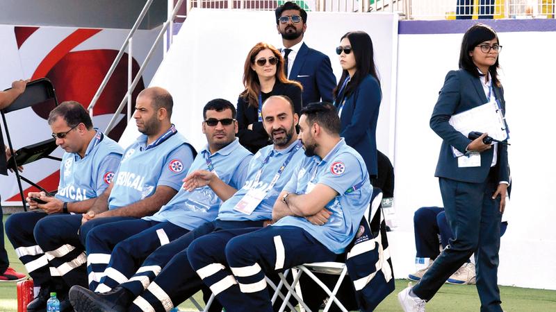 جانب من تدريبات المنتخبات المشاركة في كأس آسيا قبل انطلاق مرحلة خروج المغلوب من خلال دور الـ16. من المصدر