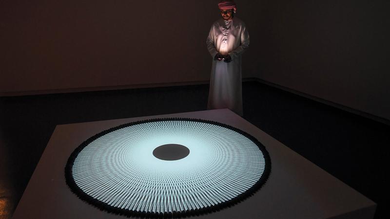 أعمال المهرجان أظهرت احترافية عالية في التعامل مع الفن الإسلامي. تصوير: أشوك فيرما