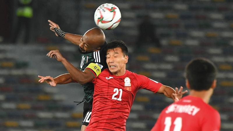 مطر: سنشاهد مباراة قيرغيزستان مرة أخرى للتعرف إلى الأخطاء. تصوير: إريك أرازاس
