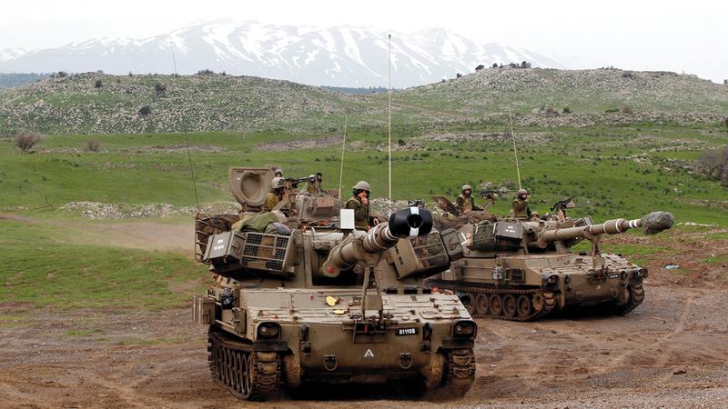 الجيش الإسرائيلي يستطيع أن يستطلع ما يجري في الوادي التالي الذي يؤدي إلى دمشق. أرشيفية