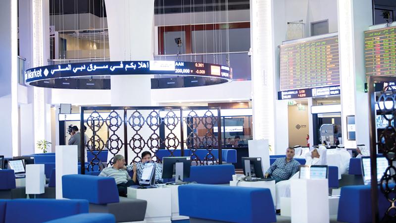 مؤشر «دبي المالي» تراجع بنسبة 0.097% في نهاية أسبوع التعاملات أمس. أرشيفية