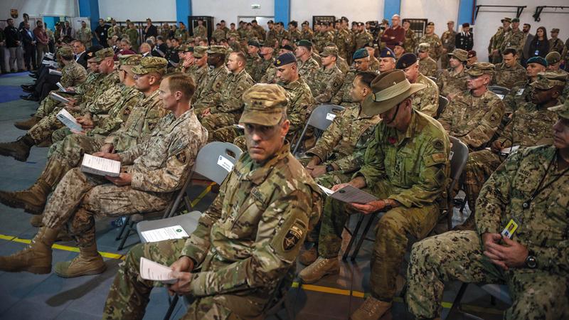 قوات حلف الناتو ساعدت العراقيين والأفغان. غيتي