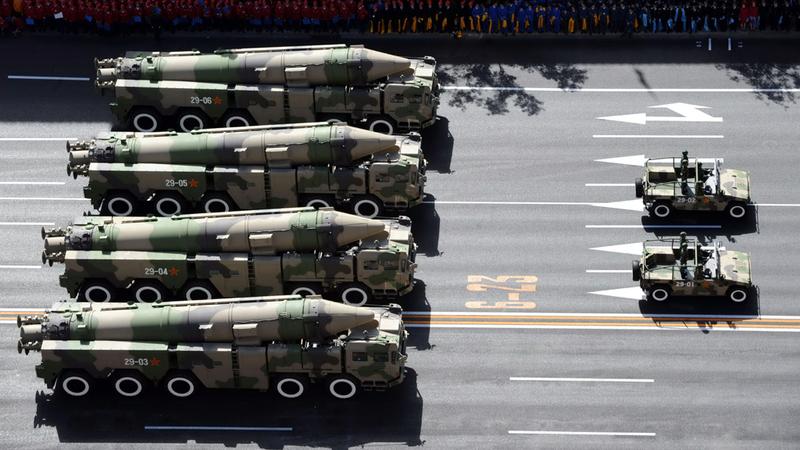 الصين استعرضت أخيراً أسلحة متطورة.  أرشيفية