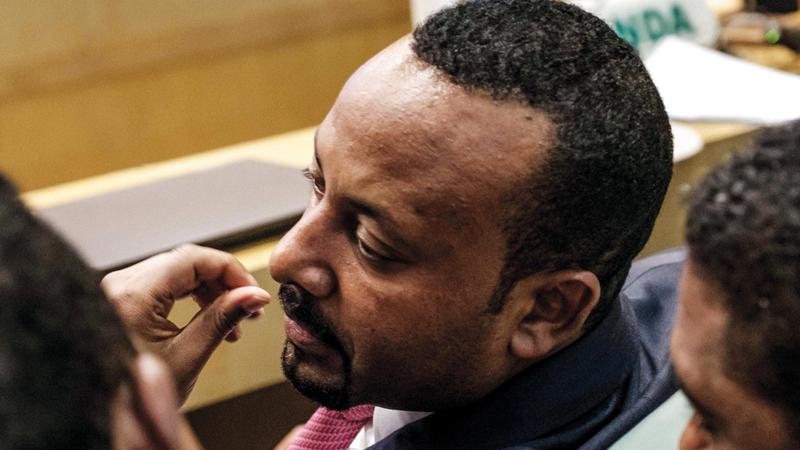 رئيس وزراء إثيوبيا آبي أحمد.  أ.ف.ب