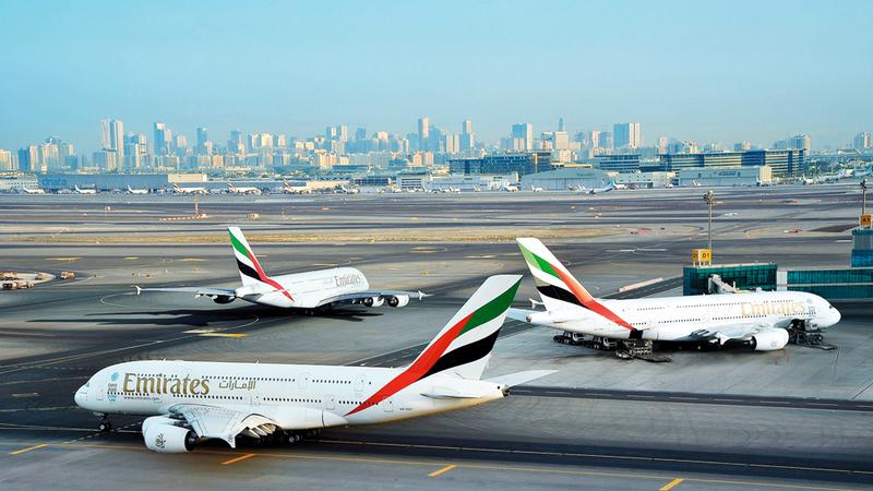 «دبي الدولي» سجل 408 آلاف و454 رحلة جوية خلال 2018. أرشيفية