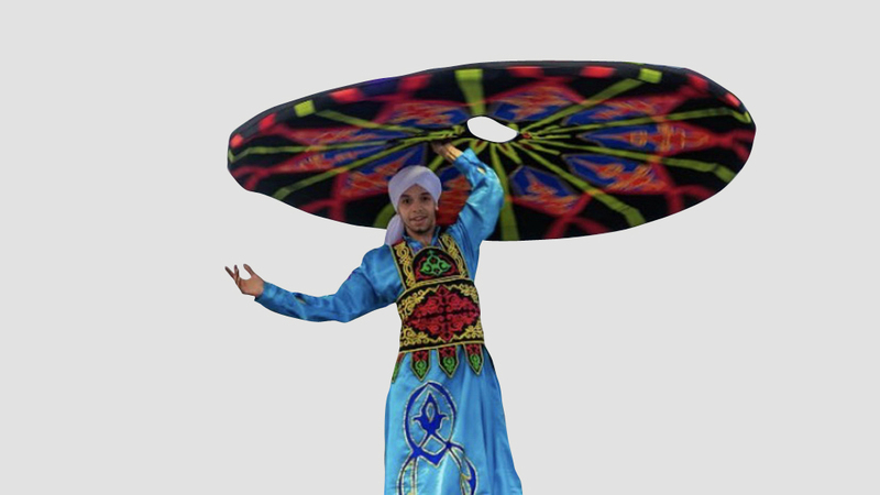 فنون واستعراضات عربية وعالمية زينت جنبات المهرجان.  من المصدر