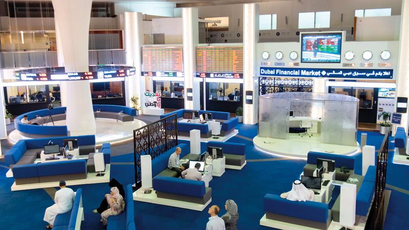 مؤشر سوق دبي ارتفع بنسبة 1.01% مغلقاً عند 2539.64 نقطة. تصوير: أحمد عرديتي
