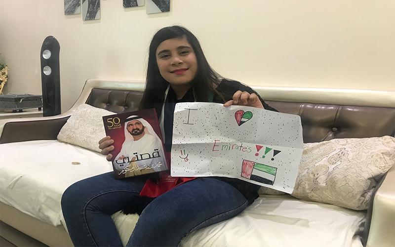 الصورة: بالفيديو: بعدما كرمها محمد بن راشد.. ماذا قالت الطفلة العراقية سارة؟