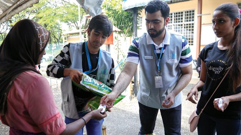 المتطوّعون نظموا خلال الزيارة ورشاً وأنشطة ترفيهية وتعليمية للأطفال والشباب. من المصدر