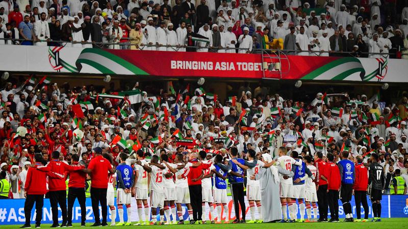 الجماهير وقفت بقوة مع الأبيض في كأس آسيا. أ.ف.ب