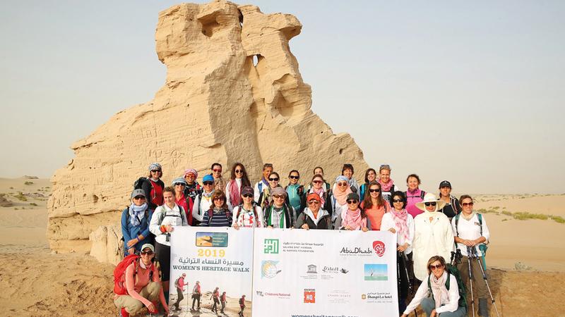 سكان أبوظبي تاريخياً كانوا يتوجهون في هذه الرحلة للبحث عن مناخ أكثر برودة.  من المصدر