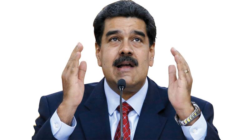 نيكولاس مادورو سبق أن كان زعيماً نقابياً، وقائد حافلة، ووزيراً للخارجية وتولى السلطة عام 2013 . أ.ب