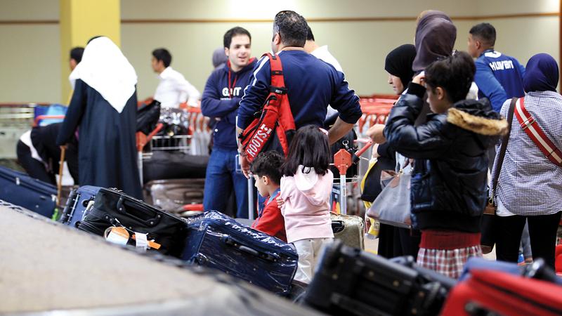 تقنية «BagJourney» تمكّن المسافر من تتبّع حقيبته طوال فترة السفر. تصوير: باتريك كاستيلو