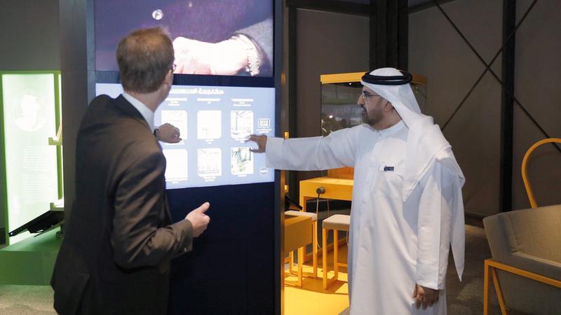 بن حويرب وأوليف أملين خلال إطلاق متحف نوبل 2019. من المصدر