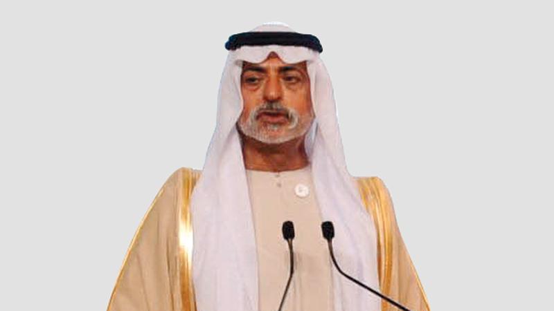 الشيخ نهيان بن مبارك. من المصدر