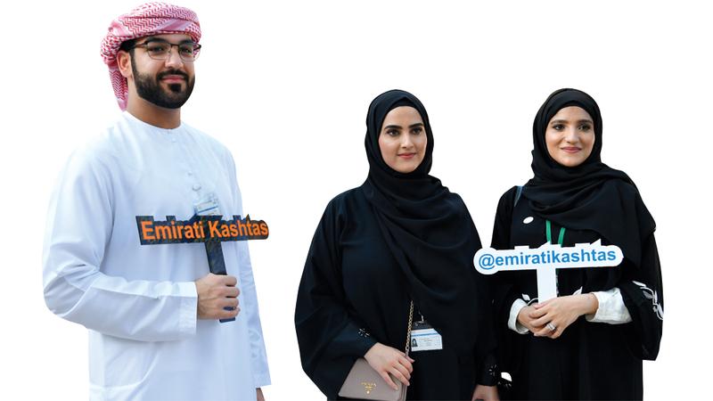 (من اليمين) هبة بن رضا وشوق بن رضا و حسين نجار.