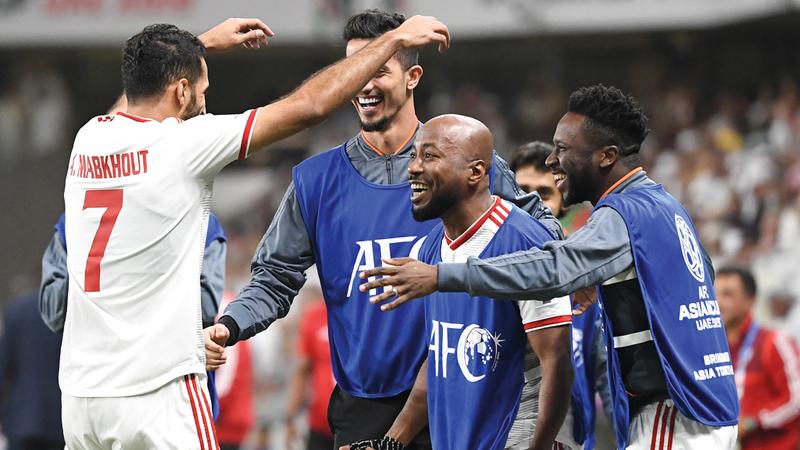 المنتخب تأهل لنصف نهائي كأس آسيا. تصوير: أسامة أبوغانم