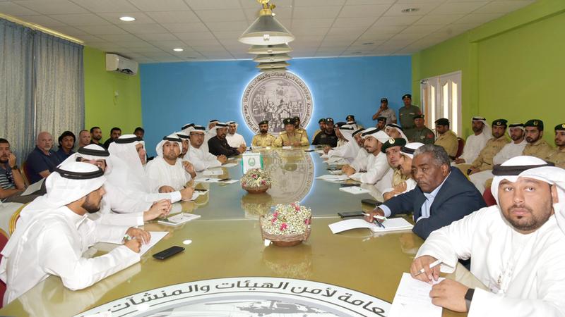 لجنة تأمين الفعاليات ناقشت الخطة الأمنية. من المصدر