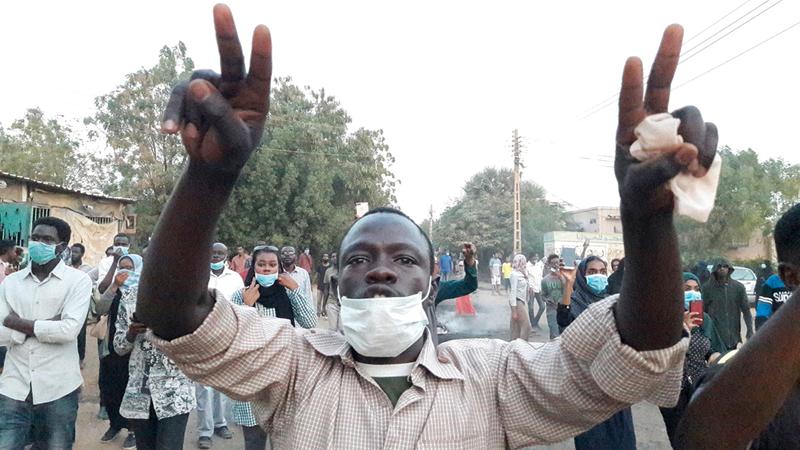 التظاهرات اجتاحت مدن السودان بسبب تردي الوضع الاقتصادي. أ.ف.ب