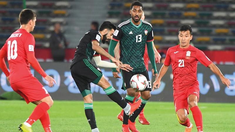 المنتخب اكتفى بالتأهل للمربع الذهبي في كأس آسيا. تصوير: إريك أرازاس