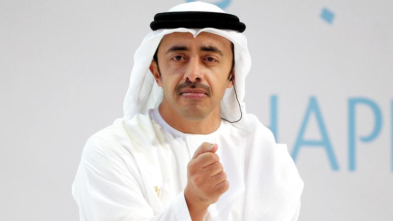 """عبد الله بن زايد يتحدث عن """"عهد جديد للأخوة والإنسانية""""."""