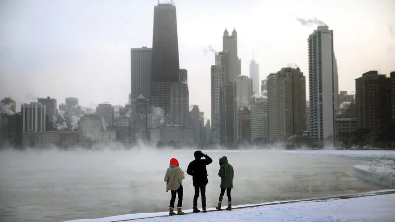 تعرضت شيكاغو لموجة باردة أتت من المنطقة القطبية ما أثر على المشردين.  أرشيفية