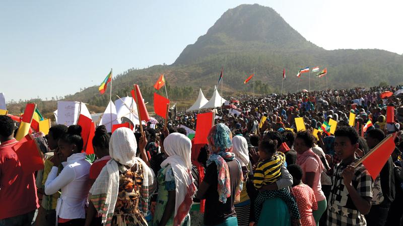 تظاهرة في تيغراي للتأكيد على احترام دستور البلاد. غيتي