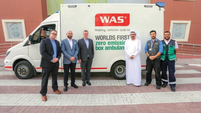 Dubai Ambulance» preparing for «Expo» by an electric car