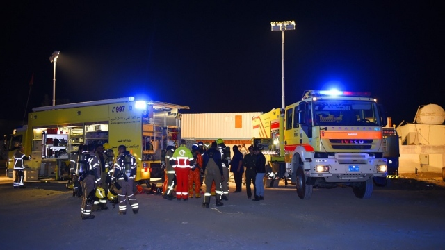 Rescue of 93 people from a gas leak in Sharjah