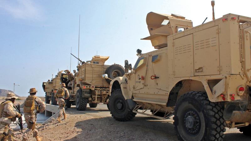 قوات التحالف العربي تواصل مساندة الجيش اليمني والمقاومة في التصدي للميليشيات الحوثية. أرشيفية