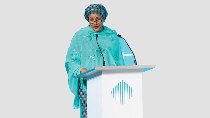 أمينة محمد: «على القادة الاستفادة من المنصات العالمية المتاحة لتبادل المعرفة والدروس المستفادة».