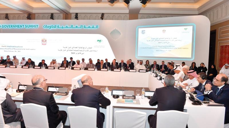 الدورة الرابعة من «منتدى المالية العامة في الدول العربية» انطلقت في دبي أمس.  من المصدر