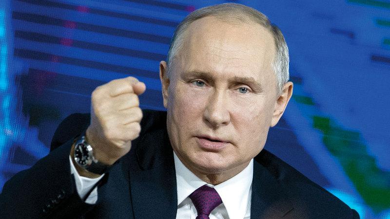 بوتين حذّر من عواقب الصراع في فنزويلا. أ.ب