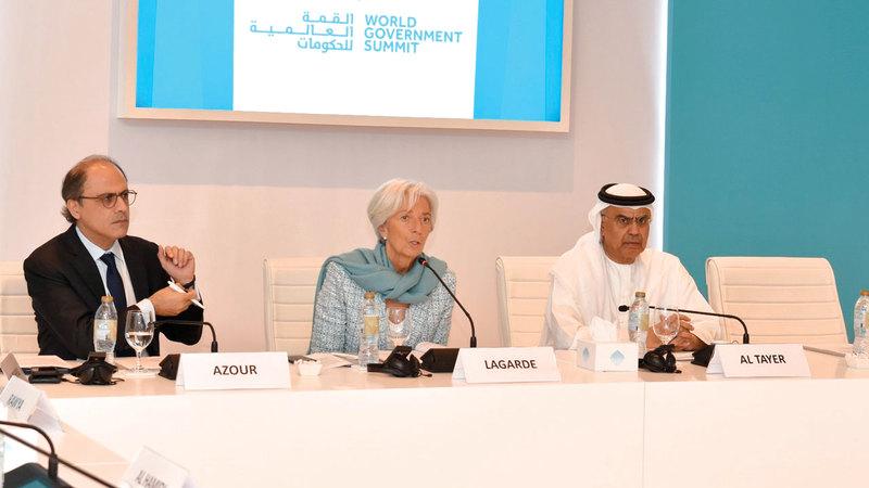 لاغارد أشادت بجهود دولة الإمارات الساعية إلى تمكين المرأة.  من المصدر