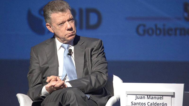 الرئيس الكولومبي السابق، خوان مانويل سانتوس. غيتي
