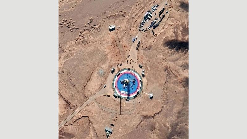 إيران حاولت إطلاق قمر اصطناعي في 5 فبراير الجاري رغم الاعتراضات الأميركية. أسوشيتد برس