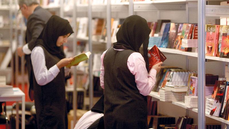 من أنشطة معرض أبوظبي للكتاب خلال دورة ماضية. أرشيفية