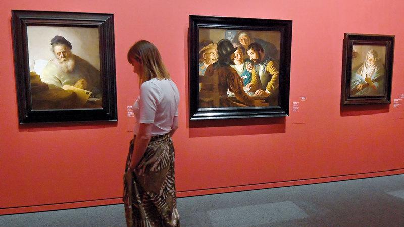 المعرض يُعدّ الأكبر من نوعه لكبار فناني هولندا من القرن الـ17. تصوير: إريك أرازاس