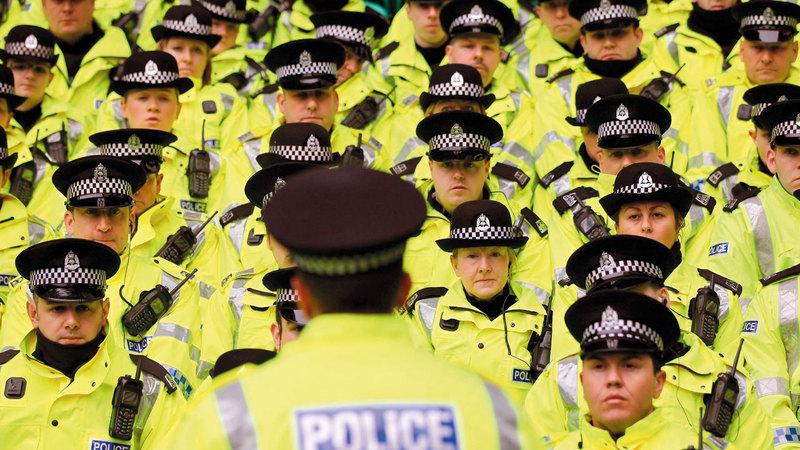 الحكومة البريطانية تنظر في احتمال زيادة التمويل لجهاز الشرطة.  أرشيفية